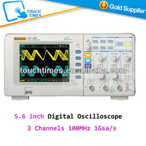 "RIGOL DS1102E Oscilloscope 5.6"" TFT Digital Oscilloscope USB 2 Channels 100MHz 1Gsa/s 1M"