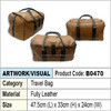 fully leather travel luggage bag