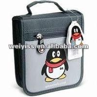 Funny interesting penguin pvc cd holder