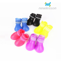 S/M/L waterproof best quality pet shoes rubber dog boots for rainy day