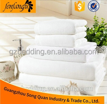 100% Egyptian Cotton white Bath Towel Towels Set including 6 towels