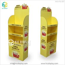 Hot Sale Paper Custom Corrugated Promotion Food Stand Floor Cardboard Display