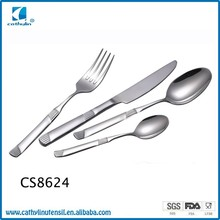 CS8624 high quality stainless steel spoon fork and knife flatware