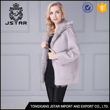 Best warm long 100% lady cashmere winter coat with fox fur inside