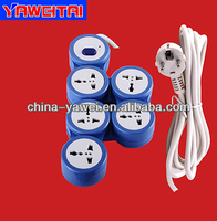 high quality pivoting 5 gang extension sockets with earthing/power outlets