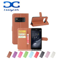 Litchi Wallet Flip PU Leather case for ASUS Zenfone 2 3 3S 5 Lite 6 Laser Max Deluxe Selfie AR ZS571KL LIVE G500TG
