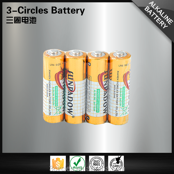 China famous LR6 1.5v leakproof aa alkaline battery