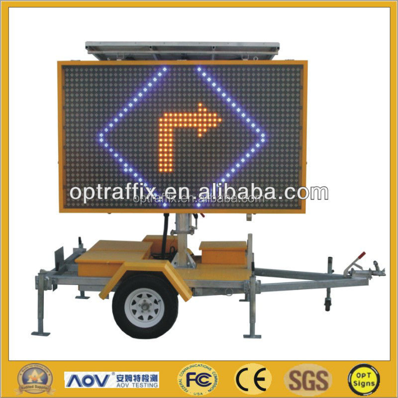 5 Color Full Matrix LED Solar Powered Led Display Signs C Size 2590*1790mm