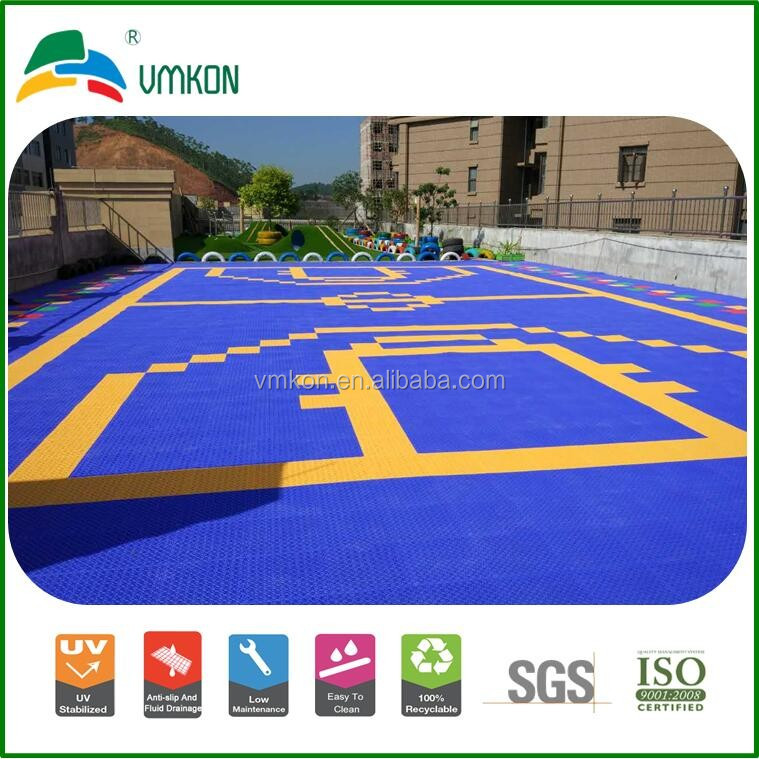 indoor and outdoor basketball courts plastics pp suspended interlocking sports flooring tiles vha-303015