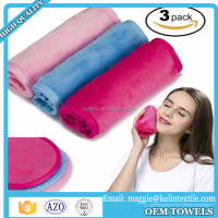 100% microfiber Reusable Luxury Soft Facial makeup remover towel for USA market