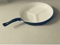 3pc ceramic coating carbon steel divided fry pan
