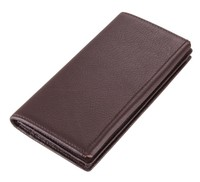 8061C Bifold Handcrafted Cell Phone Cow Leather Wallet Men