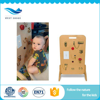 Most Popular Educational Materials China Chinese Montessori Materials Wooden Lock Board Toy