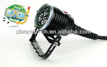 2013 innovative rechargeable waterproof led diving torch, 3000lumens spear fishing light with unique push button design