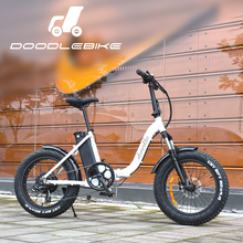 high quality electric bicycle 20 inches 48v 500w folding fat tire ebike with CE approed/doodlebike