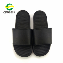 Greenshoe china factory new design flat pvc sandals slides footwear men massage slipper,custom logo men slide sandals