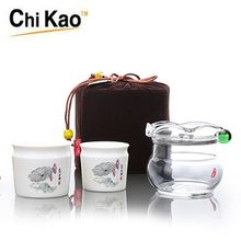 HOT decorative tea set High-capacity lotus leaf glass teapot combined teapot cup