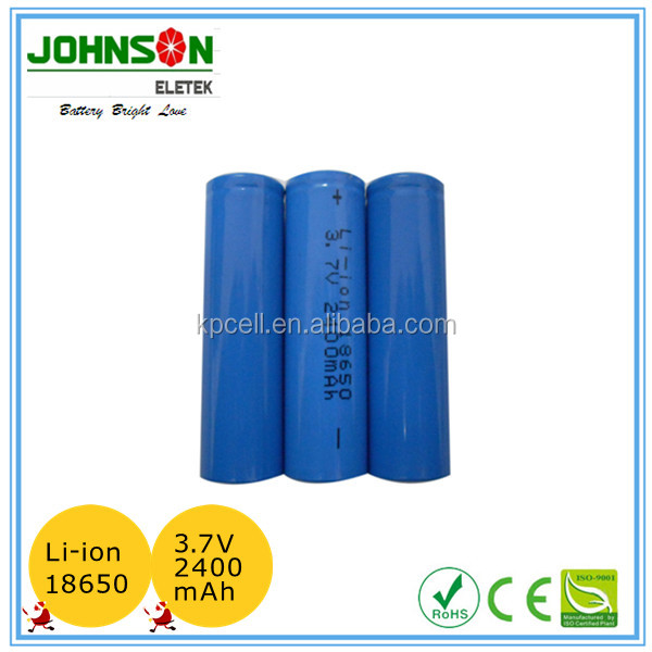 Li-lon 18650 rechargeable battery pack 2400mAh 3.7V/rechargeable camera batteries