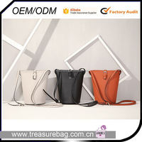 PA6688 2016 new simple solid color lady girl woman PU leather bucket bag crossbody shoulder bag fashion messenger bag