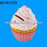 very famous Cupcake piggy pot Design coin money change can container or box ceramic pottery money bank