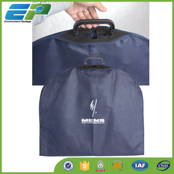nonwoven garment bag with triangle shape plastic handle