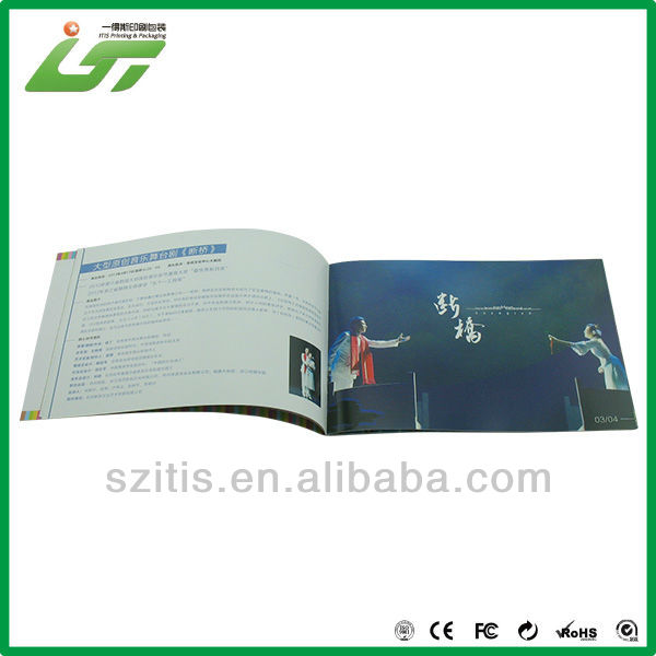 fashion product promotional brochure sample with logo UV