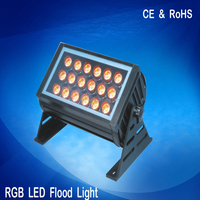 Black 18w rgb floodlight led stage light lamp for garden 2 years warranty