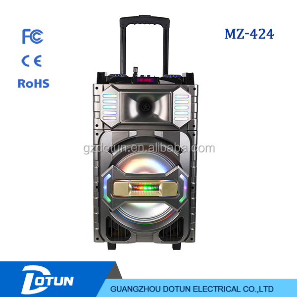 12 inch active speaker subwoofer rechargeable professional music box speaker