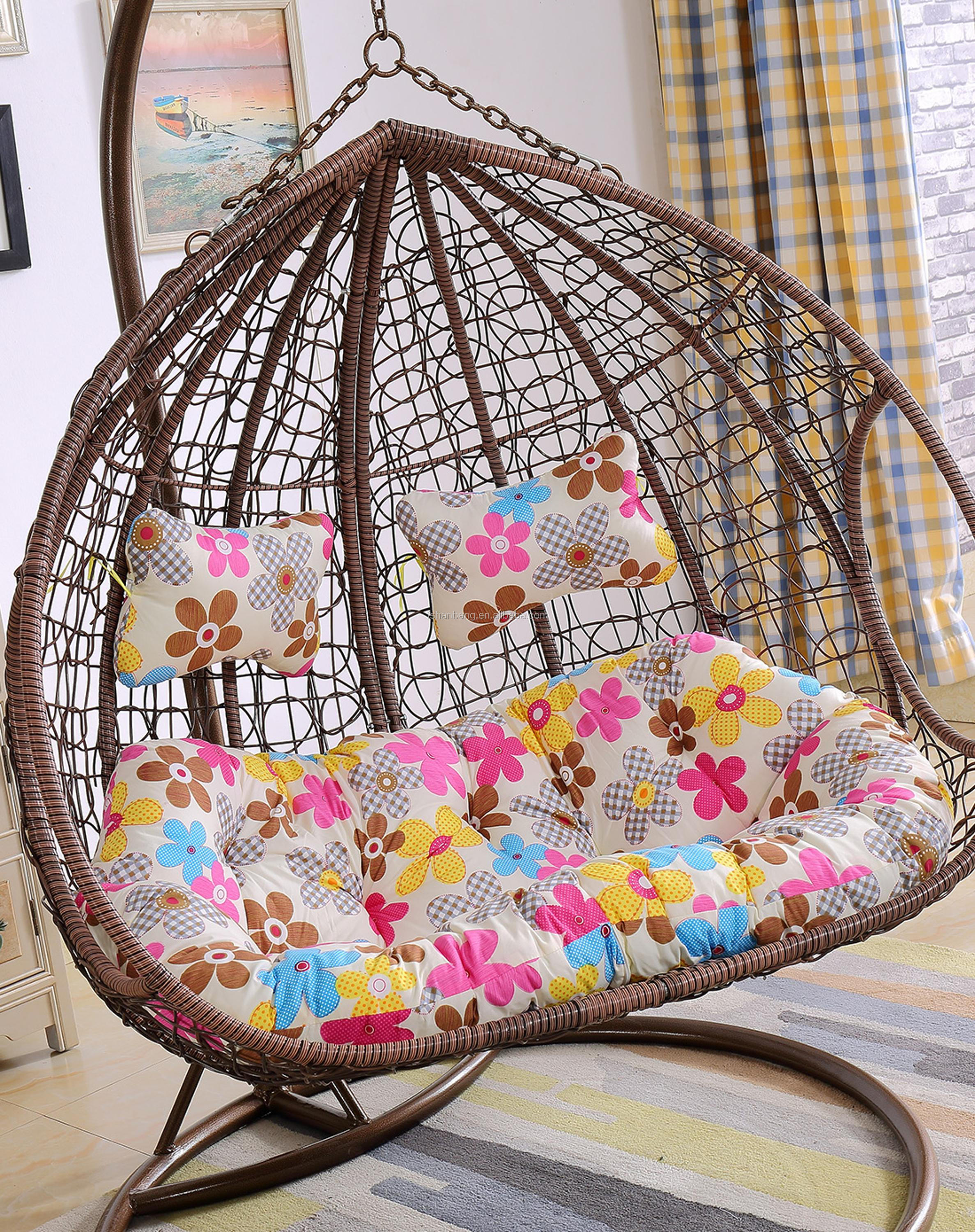 Large Balcony Garden Double Hanging Swing Chair