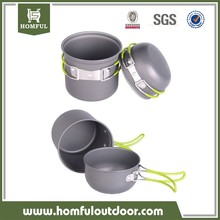 Homful Outdoor Camping pan Hiking Cookware Backpacking Cooking Picnic Bowl Pot Pan Set 4 Piece Camping Cookware Mess Kit