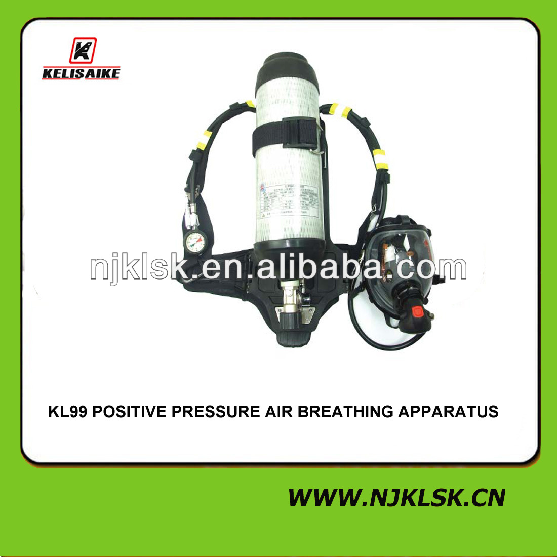 solid reliability full firefighter mask compressed air breathing kit