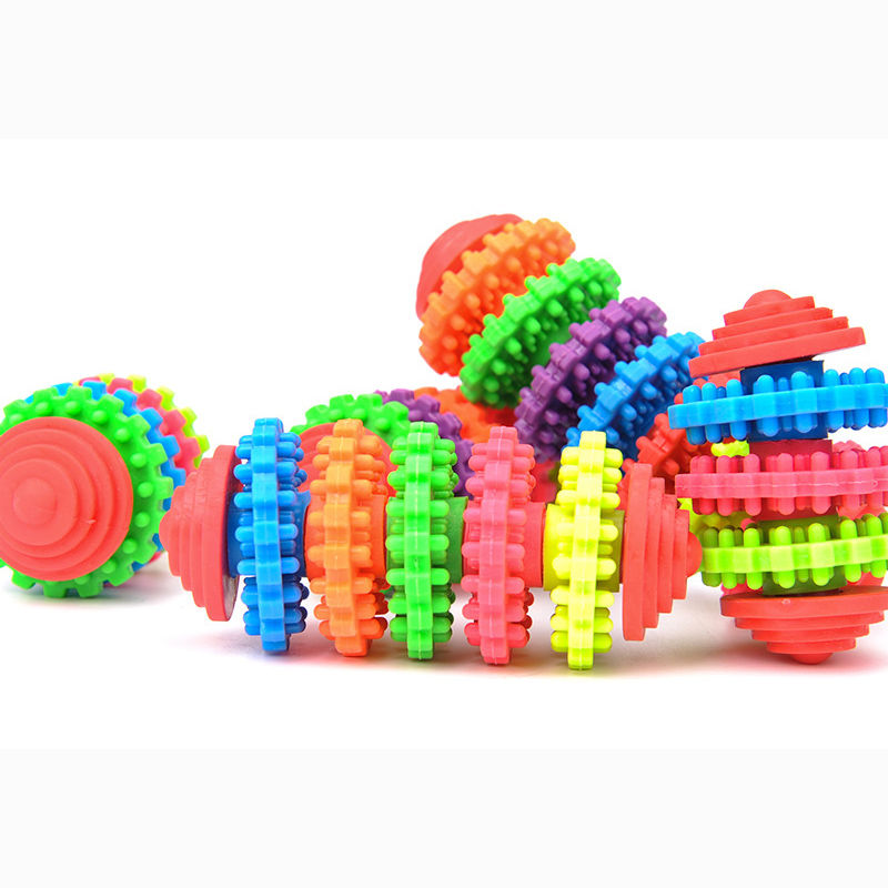3 Size Colorful Rubber Pet Dog Puppy Dental Teething Healthy Teeth Gums Chew Toys