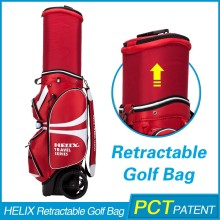 2016 Latest genuine Leather golf bag travel cover with custom logo