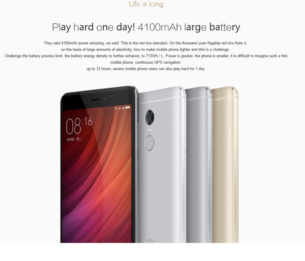 hot sale xiomi redmi note 4 4g latest mobile phone 3gb ram