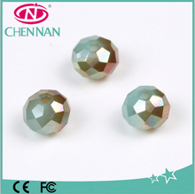 Machine Cut fire polished miracle electroplated faceted crystal glass beads