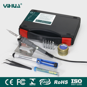 YIHUA947-II 60W adjustable electronic soldering iron with 5 TIPS 6 in1 soldering iron kit