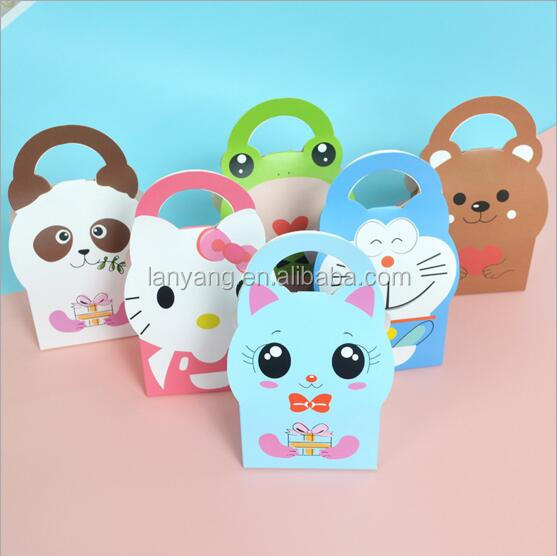 18*9*6cm Zoo Animal Party Favor Treat Boxes Baby shower favor boxes