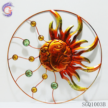 Modern abstract ornament metal sun and moon wall hanging decor