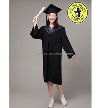 Hot Style Design Black Graduation Gown Dress