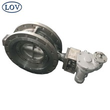 Fisher 7600 Price API609 CF8M CF8 Screw Type Metal Seal Triple Offset Butterfly Valve