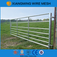 Steel pipe galvanized farm gates for sale