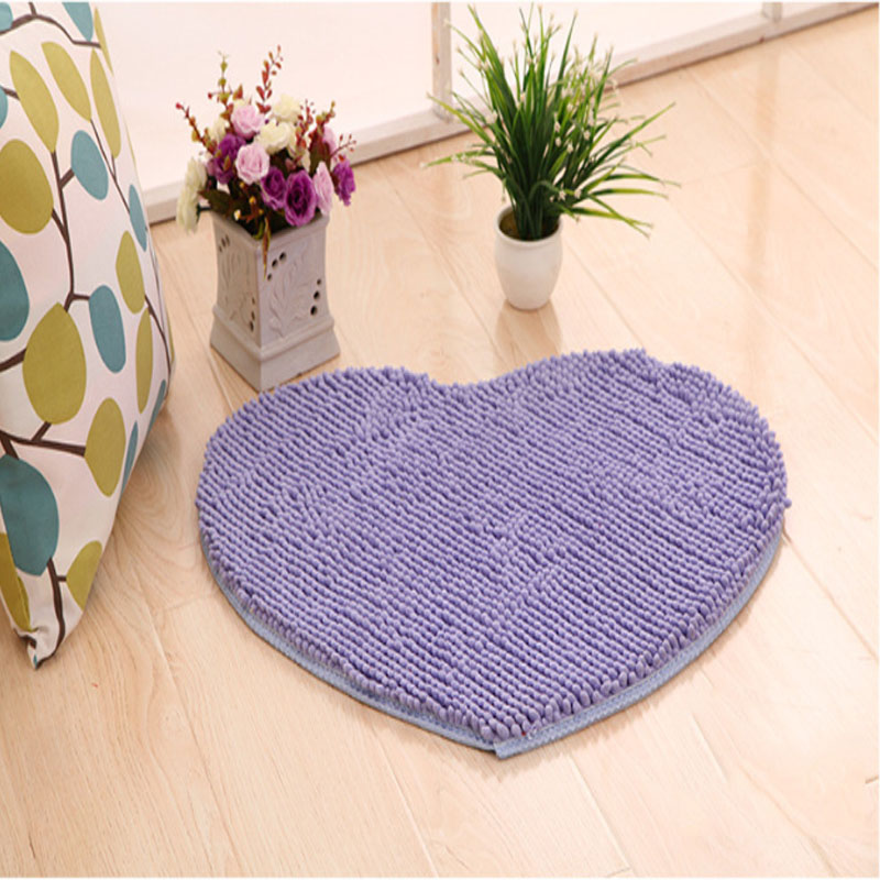 Chinese high quality customied color fancy chenille door mat