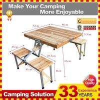 China Cheap Wooden Folding Table Folding Into a Small Wooden Folding Table