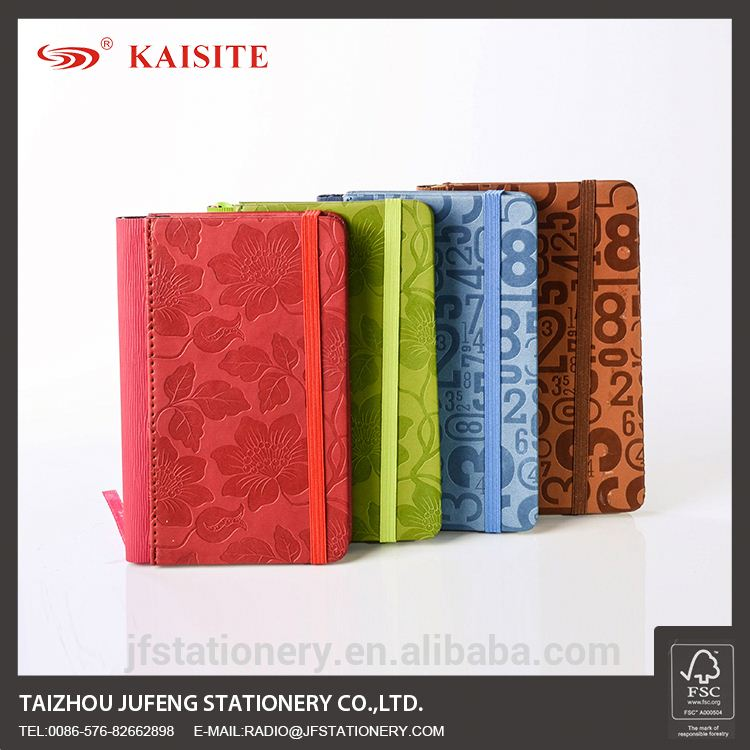 A6 new design 2013 diary PU notebook with flower