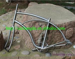 Titanium Cruiser bicycle frame with sliding dropout Ti newsboy bike frame with crank Ti Custom bike frame touring from China