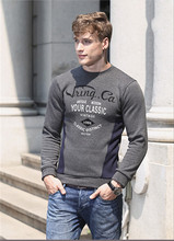 Men's O Neck Pullover Sweatshirt Hoodies Men Cotton and Fiber Hoodies Printed <strong>Logo</strong>