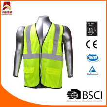 ANSI107 mesh green safety vest
