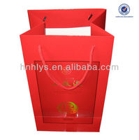 Wine Promotion Paper Shopping Bag With PP Handle