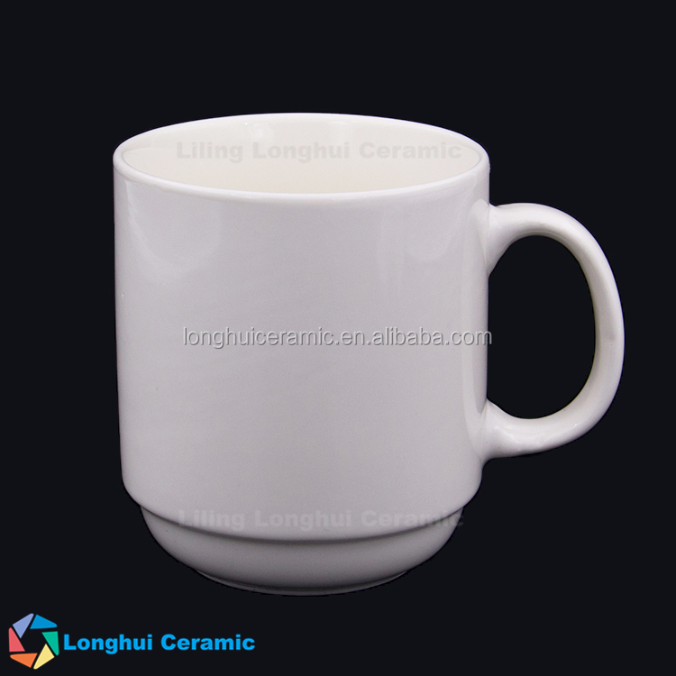 wholesale 12oz round stackable new bone coffee mugs porcelain