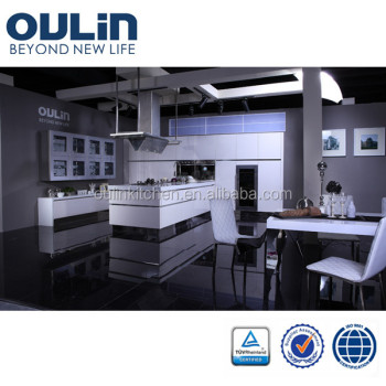 OULIN kitchen cabinet in 2 pack lacquer kitchen cabinet with European hardware